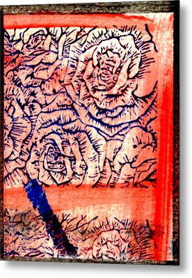 Flowers Though My Window Metal Print by Kimanthi Toure