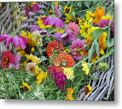 Metal Print featuring the photograph Flowers by Tina M Wenger