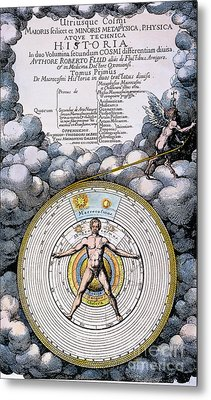 Fludd: Title-page, 1617 Metal Print by Granger