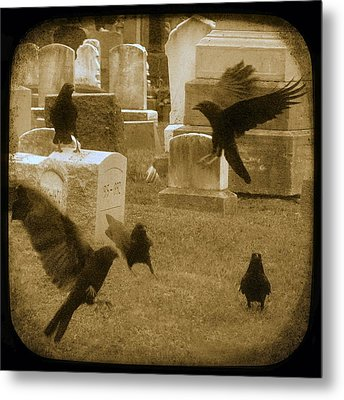 Flury Of Crows Metal Print by Gothicrow Images