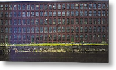 Fly Fishing Lawrence Canal Metal Print by Jan W Faul