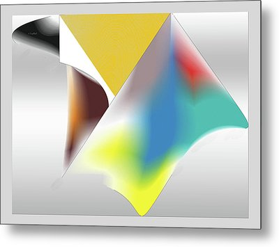 Metal Print featuring the digital art Flyer by Asok Mukhopadhyay