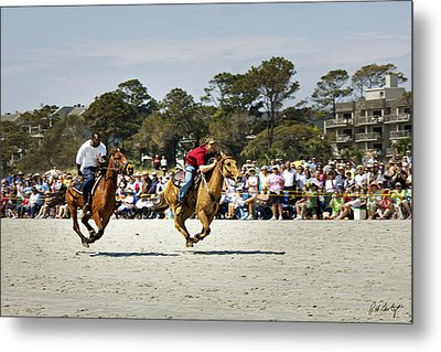 Flying At The Marsh Tacky Races Metal Print by Phill Doherty