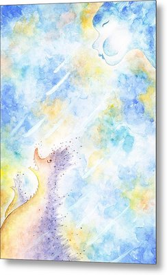 Flying Away Metal Print by Asida Cheng