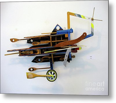 Metal Print featuring the sculpture Flying by Bill Thomson