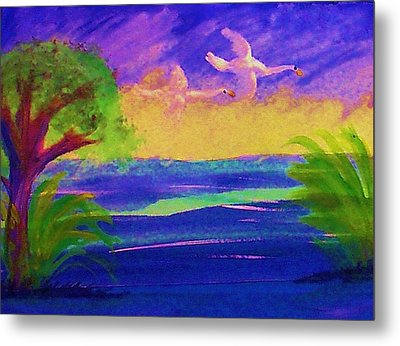 Flying Home Metal Print by Anna Lewis
