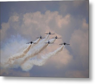 Flying In Formation Metal Print by Julia Wilcox