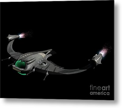 Flying Machine Inspired By The Martians Metal Print by Rhys Taylor