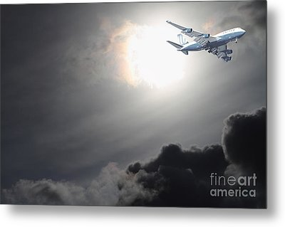 Flying The Friendly Skies Metal Print by Wingsdomain Art and Photography
