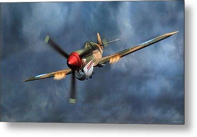 Flying Tiger P-40 Warhawk Metal Print by Walter Colvin