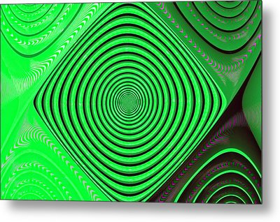 Focus On Green Metal Print by Carolyn Marshall