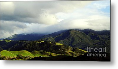 Metal Print featuring the photograph Fog Over Santa Ynez Valley by Gary Brandes