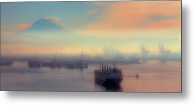 Fog Over The Tide Flats Metal Print by David Patterson