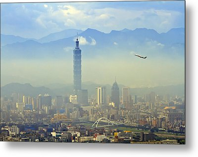 Fog Taipei 101 Metal Print by 712