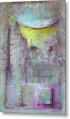 Metal Print featuring the painting Foggy Land by Lolita Bronzini
