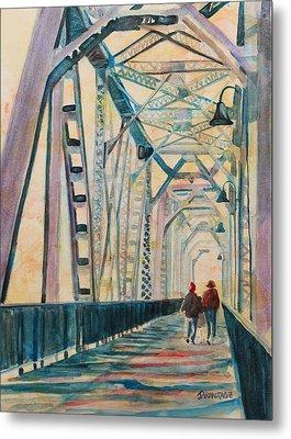 Foggy Morning On The Railway Bridge IIi Metal Print