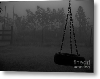 Metal Print featuring the photograph Foggy Playground by Cheryl Baxter