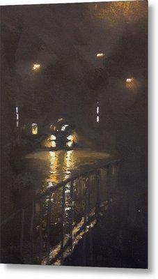 Foggy Street 4 Metal Print by Paul Mitchell