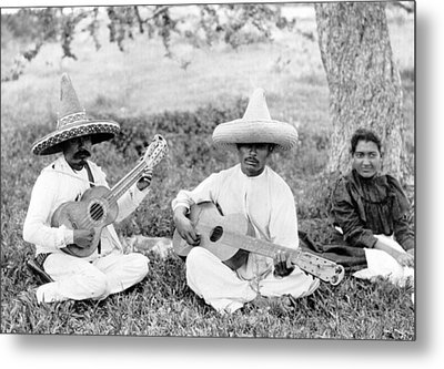 Folk Music. Musical Picnic, Photo Metal Print by Everett