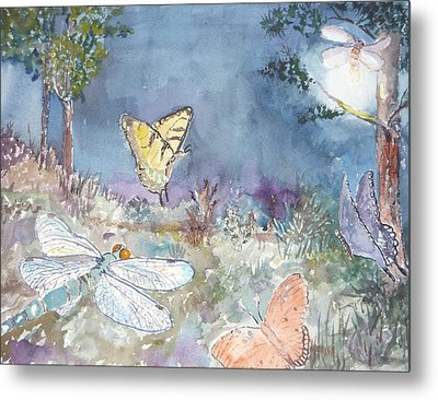 Follow The Firefly Metal Print by Dorothy Herron