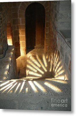 Follow The Light-stairs Metal Print