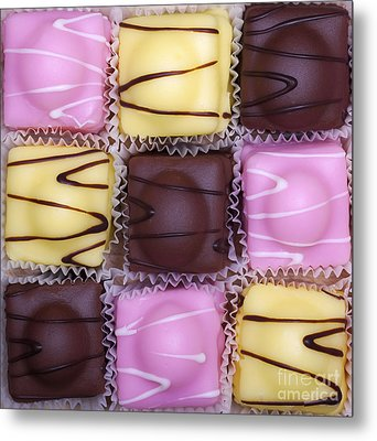 Fondant Fancies Metal Print by Jane Rix