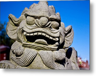 Foo Dog Metal Print by Extrospection Art