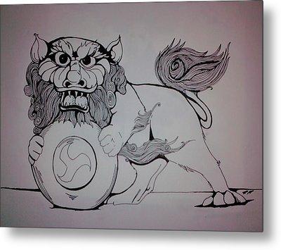 Foo Lion Metal Print by Ronald Mcduff