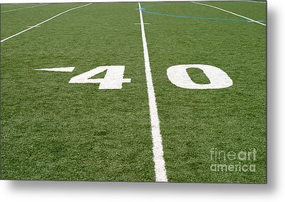Metal Print featuring the photograph Football Field Forty by Henrik Lehnerer
