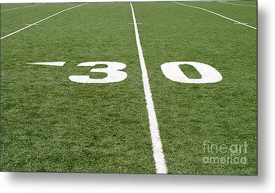 Metal Print featuring the photograph Football Field Thirty by Henrik Lehnerer