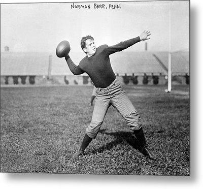 Football, Norman Barr, University Metal Print by Everett