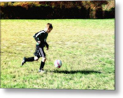 Footballer Metal Print by Bill Cannon