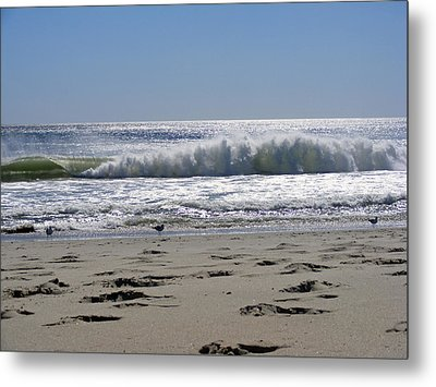Footsteps To The Shore Metal Print