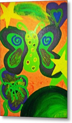 For The Kids Metal Print by The Anxiously Abstract Artist