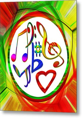 For The Love Of Music Metal Print by Susan Leggett