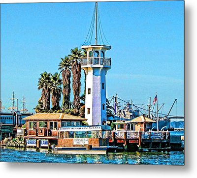 Forbes Island Lighthouse Metal Print by Linda Gesualdo