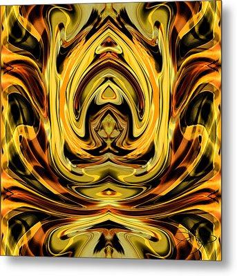 Forbidden Fruit Metal Print by Shy  Blakeman