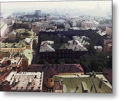 forbidden view over Moscow Metal Print by Nafets Nuarb