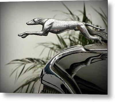 Ford Greyhound Radiator Cap Metal Print by Karyn Robinson