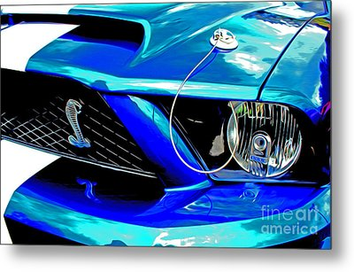 Metal Print featuring the digital art Ford Mustang Cobra by Tony Cooper