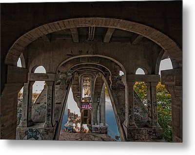 Metal Print featuring the photograph Ford Parkway Bridge by Tom Gort