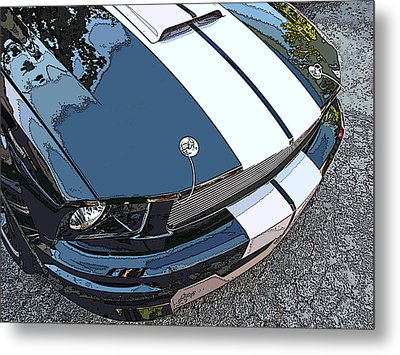 Ford Shelby Gt Nose Study Metal Print by Samuel Sheats