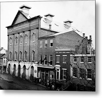 Metal Print featuring the photograph Fords Theater - After Lincolns Assasination - 1865 by International  Images