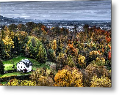 Forest Cottage Metal Print by Anthony Citro