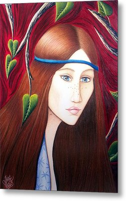 Metal Print featuring the drawing Forest Fire by Danielle R T Haney