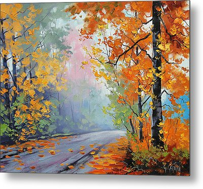 Forest Road Metal Print by Graham Gercken