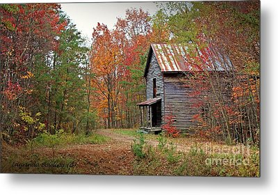 Forgotten Gristmill Metal Print by Laurinda Bowling