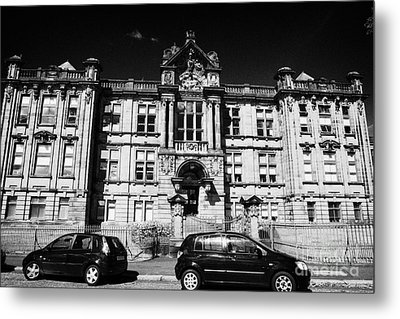 Former Kilmarnock Technical School And Academy Building Now Academy Apartments Scotland Uk Metal Print by Joe Fox