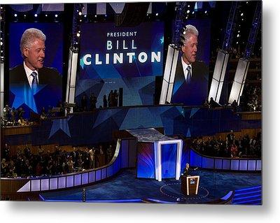 Former President Bill Clinton Addresses Metal Print by Everett