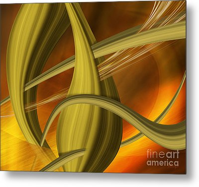 Metal Print featuring the digital art Forms In Movements 5 by Johnny Hildingsson